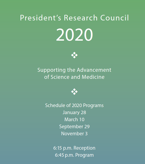 2019 President's Research Council brochure